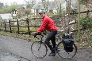 Scottish Fruit Trees in Cycle Panniers!